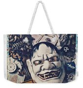 Devil Mask Weekender Tote Bag
