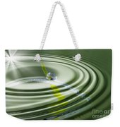 Dew Bead On The Blade Of Grass Weekender Tote Bag