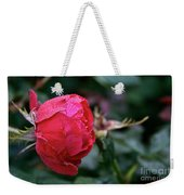Dew Drenched Rose Weekender Tote Bag