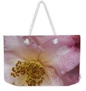 Dew Drops On Pink Weekender Tote Bag