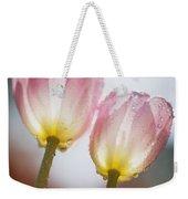 Dew On Tulips Weekender Tote Bag