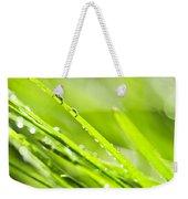 Dewy Green Grass  Weekender Tote Bag