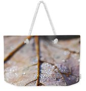 Dewy Leaf Weekender Tote Bag by Elena Elisseeva