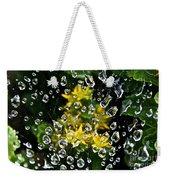 Diamond Studded Web Weekender Tote Bag