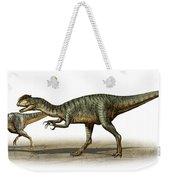 Dilophosaurus Wetherilli, A Prehistoric Weekender Tote Bag