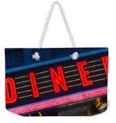 Diner Sign In Neon Weekender Tote Bag