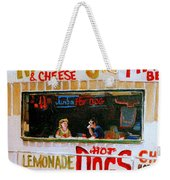 Dinner For Two Atlantic City On The Boardwalk   Weekender Tote Bag