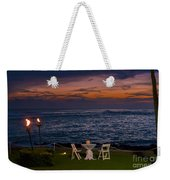 Dinner Setting In Paradise Weekender Tote Bag by Darcy Michaelchuk