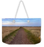 Dirt Road Through The Prairie Weekender Tote Bag
