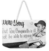 Disappointed Boy, 1957 Weekender Tote Bag
