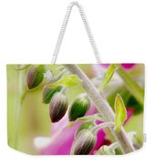 Discussing When To Bloom Weekender Tote Bag by Rory Sagner