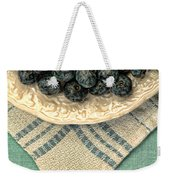 Dish Of Fresh Blueberries Weekender Tote Bag