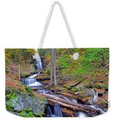 Distant Ozone Falls And Rapids In Autumn Weekender Tote Bag