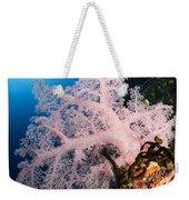 Diver Over Soft Coral Seascape Weekender Tote Bag