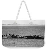 Diving Coney Island In Black And White Weekender Tote Bag