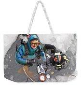 Diving In The Ice Weekender Tote Bag by Heiko Koehrer-Wagner