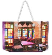 Do-00520 Emir Bachir Palace Interior-violet Bkgd Weekender Tote Bag