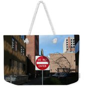 Do Not Enter Weekender Tote Bag