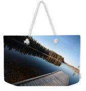 Dock On Northern Manitoba Lake Weekender Tote Bag