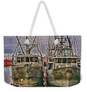 Docked Fishing Boats Hdr Weekender Tote Bag