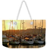 Docked Yachts Weekender Tote Bag by Carlos Caetano