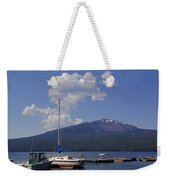 Docks At Diamond Lake Weekender Tote Bag