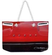 Dodge Challenger Hood And Grill Weekender Tote Bag