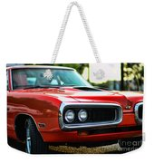 Dodge Super Bee Classic Red Weekender Tote Bag by Paul Ward