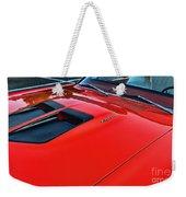 Dodge Super Bee Hood  In Red Weekender Tote Bag