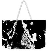 Dog Abstract Black And White Weekender Tote Bag