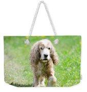 Dog On The Green Field Weekender Tote Bag
