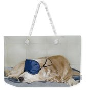 Dog Sleeping With A Sleep Mask Weekender Tote Bag
