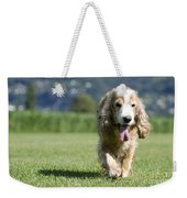 Dog Walking On The Green Grass Weekender Tote Bag