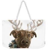 Dog With Antlers Weekender Tote Bag