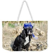 Dog With Diving Mask Weekender Tote Bag