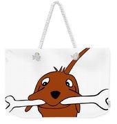 Dog With Large Bone Weekender Tote Bag