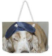 Dog With Sleep Mask Weekender Tote Bag