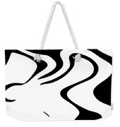 Doggy Style Black On White Weekender Tote Bag