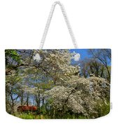 Dogwood Grove Weekender Tote Bag by Debra and Dave Vanderlaan