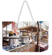 Doing Vendor Duty At Food Stalls In The Surajkand Mela Weekender Tote Bag