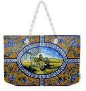 Don Quixote In Spanish Tile Weekender Tote Bag