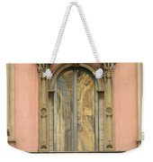 Doors Balcony And Duomo Reflection In Milan Italy Weekender Tote Bag