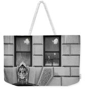 Dos Windows In Black And White Weekender Tote Bag