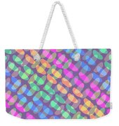 Dotted Check Weekender Tote Bag