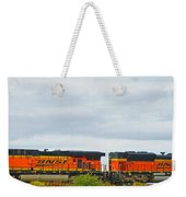 Double Bnsf Engines Weekender Tote Bag