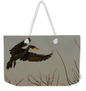 Double Crested Cormorant Coming Weekender Tote Bag