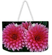 Double Dahlia Weekender Tote Bag