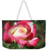 Double Delight Rose Weekender Tote Bag