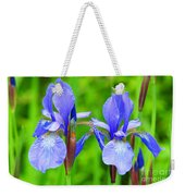 Double Iris Weekender Tote Bag