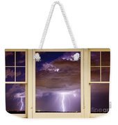 Double Lightning Strike Picture Window Weekender Tote Bag
